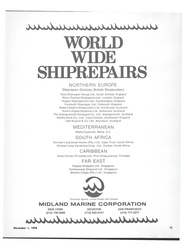 Maritime Reporter Magazine, page 15,  Nov 1978
