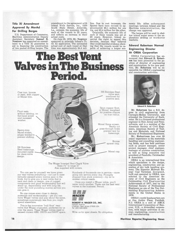 Maritime Reporter Magazine, page 16,  Nov 1978