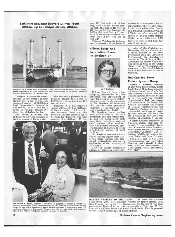 Maritime Reporter Magazine, page 18,  Nov 1978 Sherman C. Perry