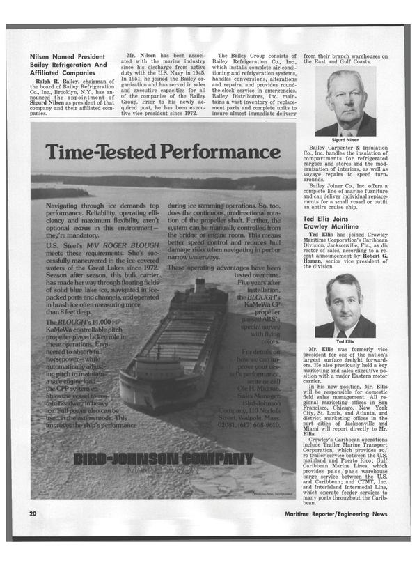Maritime Reporter Magazine, page 22,  Nov 1978 Robert G. Homan