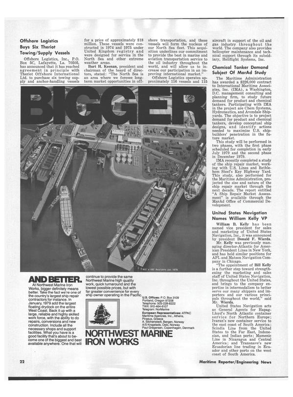 Maritime Reporter Magazine, page 24,  Nov 1978 east coast