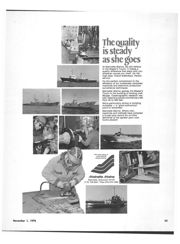 Maritime Reporter Magazine, page 37,  Nov 1978 Harman On Time Radio