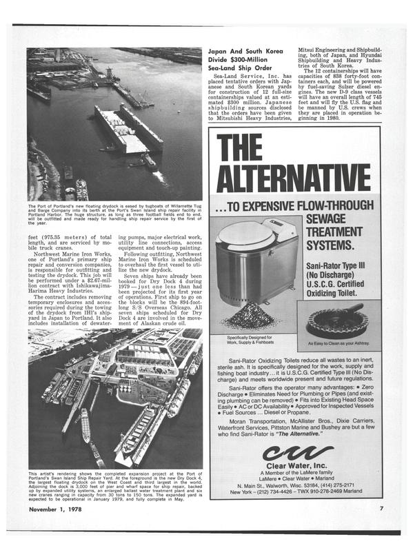 Maritime Reporter Magazine, page 7,  Nov 1978