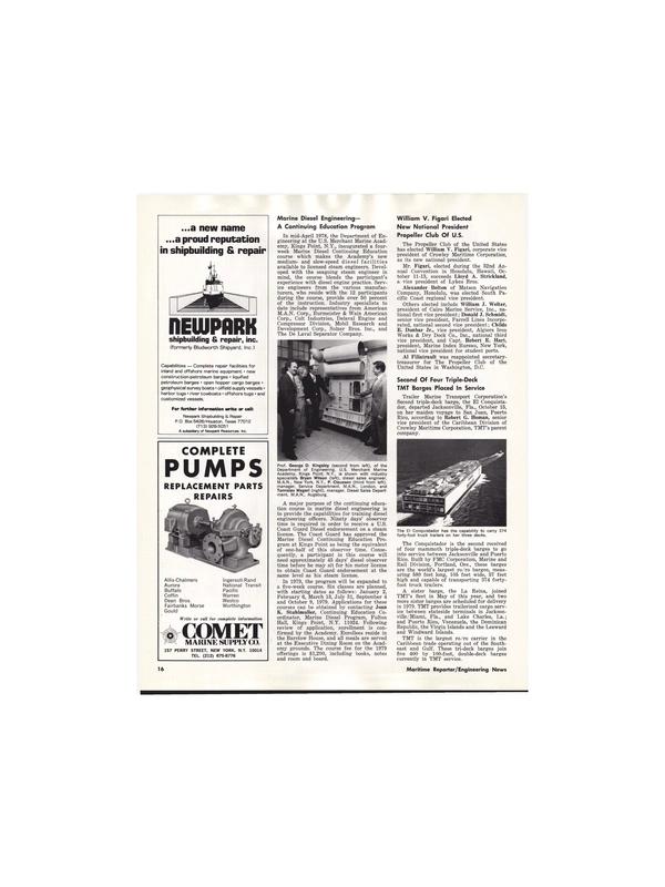 Maritime Reporter Magazine, page 14,  Nov 15, 1978