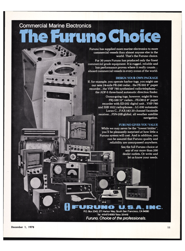 Maritime Reporter Magazine, page 9,  Dec 1978