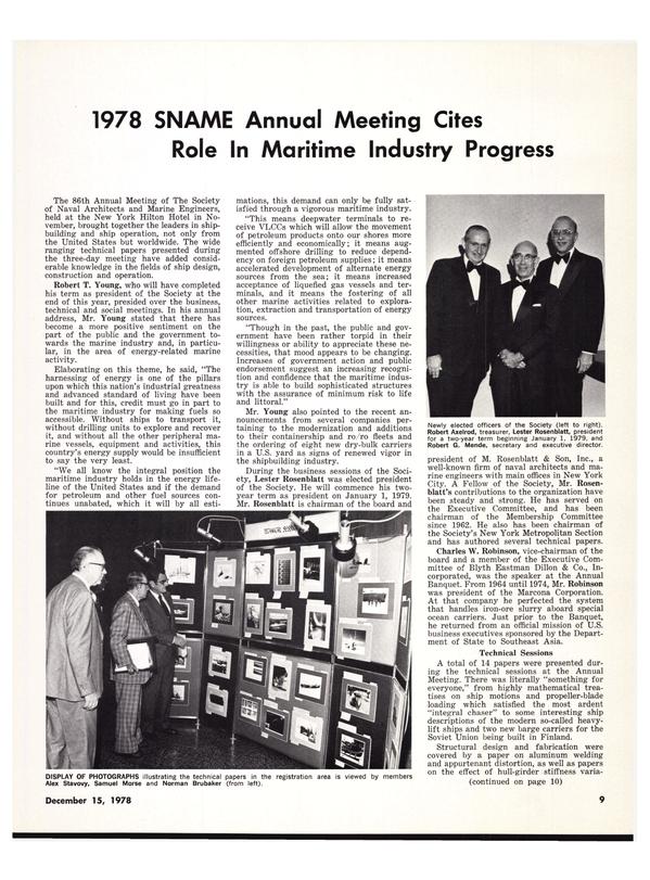 Maritime Reporter Magazine, page 11,  Dec 15, 1978
