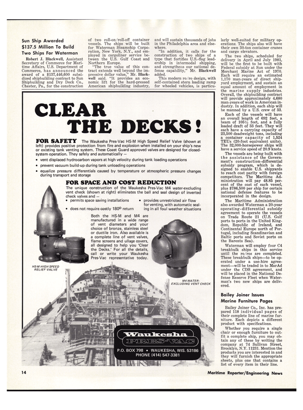 Maritime Reporter Magazine, page 16,  Dec 15, 1978 Pennsylvania