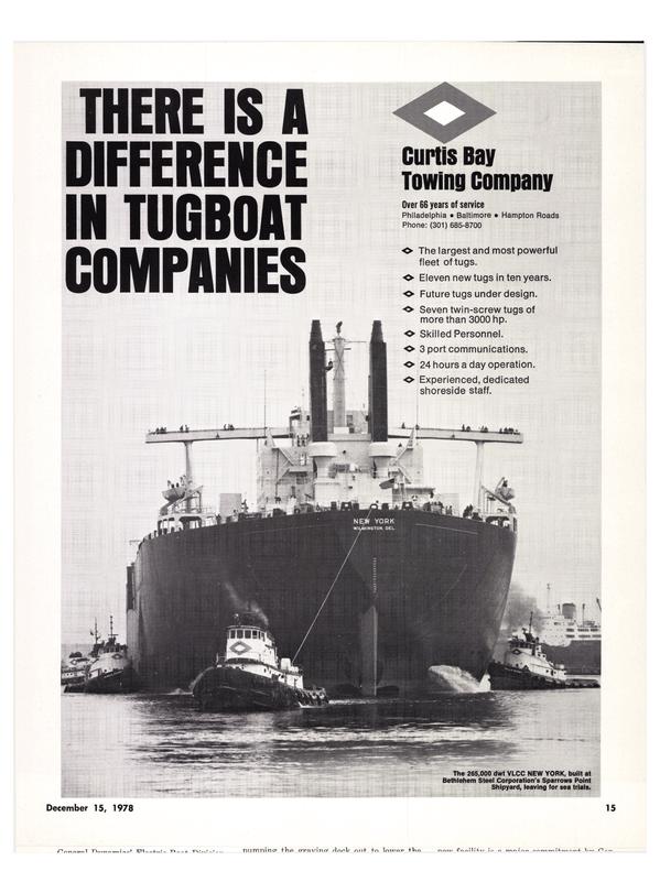 Maritime Reporter Magazine, page 17,  Dec 15, 1978 Bethlehem Steel Corporation