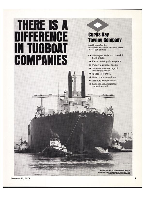 Maritime Reporter Magazine, page 19,  Dec 15, 1978