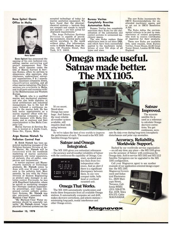 Maritime Reporter Magazine, page 27,  Dec 15, 1978 Mediterranean