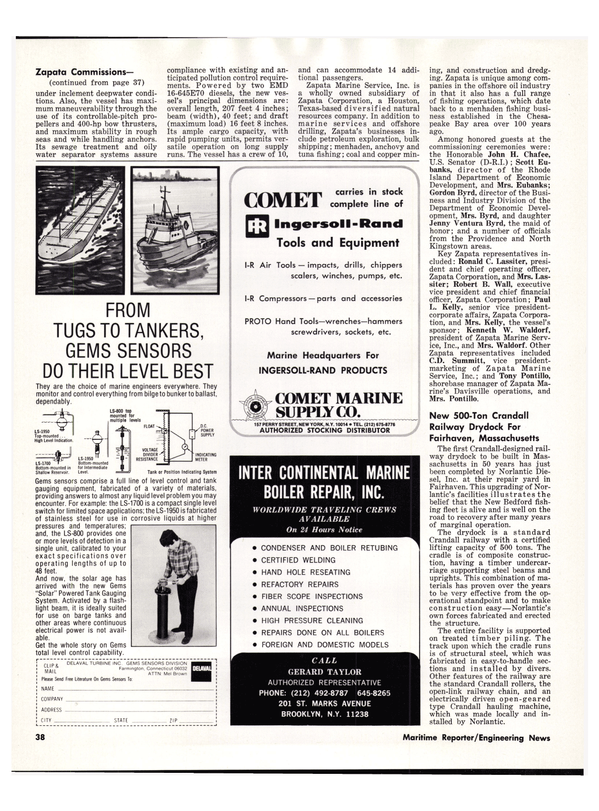 Maritime Reporter Magazine, page 42,  Dec 15, 1978 Connecticut