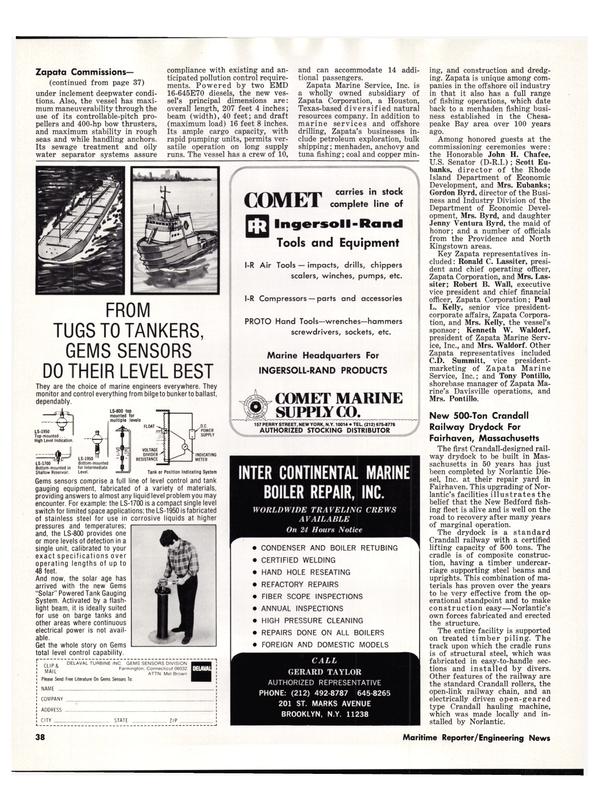 Maritime Reporter Magazine, page 42,  Dec 15, 1978 Connecticut