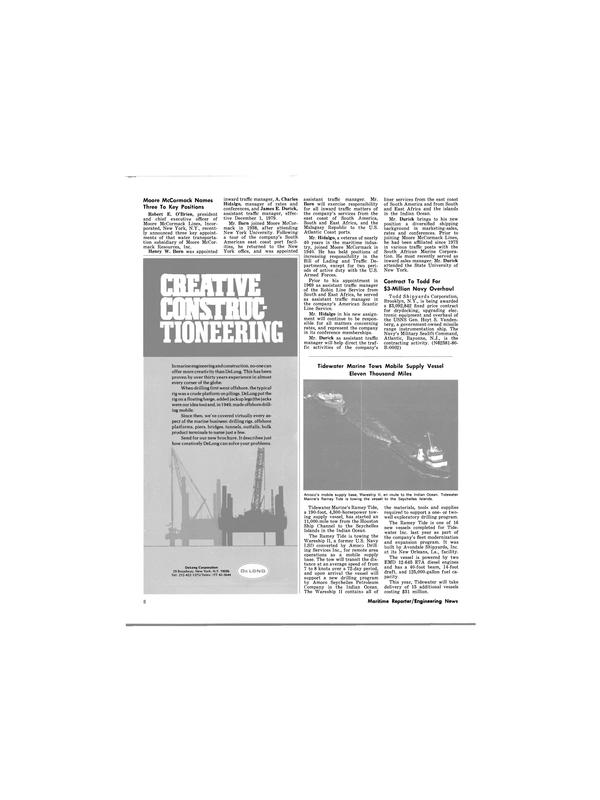 Maritime Reporter Magazine, page 4,  Jan 1980 Robert E. O