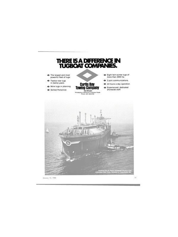 Maritime Reporter Magazine, page 11,  Jan 15, 1980