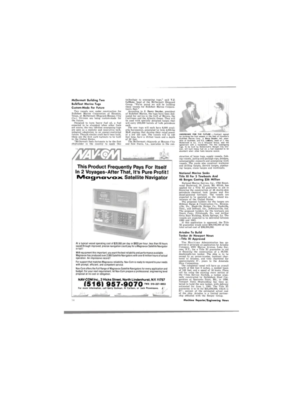 Maritime Reporter Magazine, page 12,  Jan 15, 1980