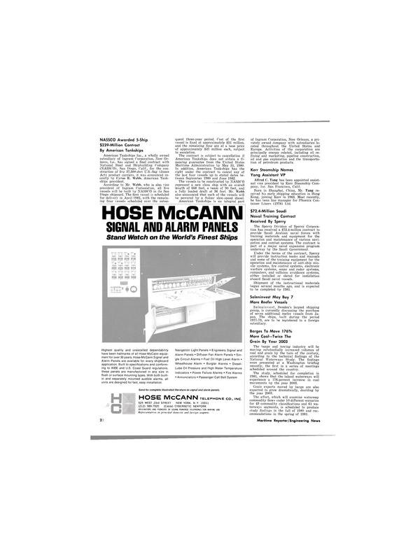 Maritime Reporter Magazine, page 22,  Jan 15, 1980