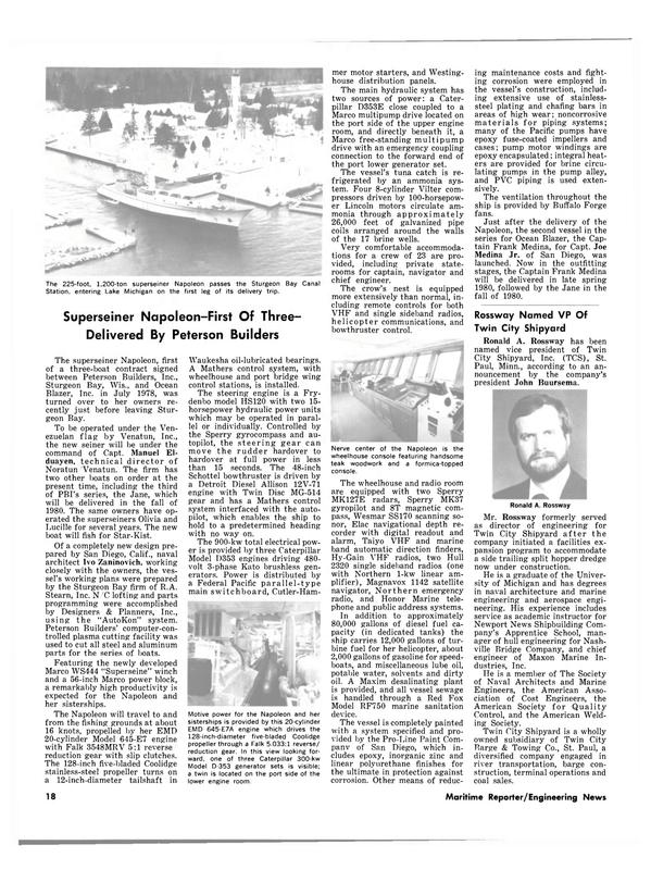 Maritime Reporter Magazine, page 16,  Feb 1980