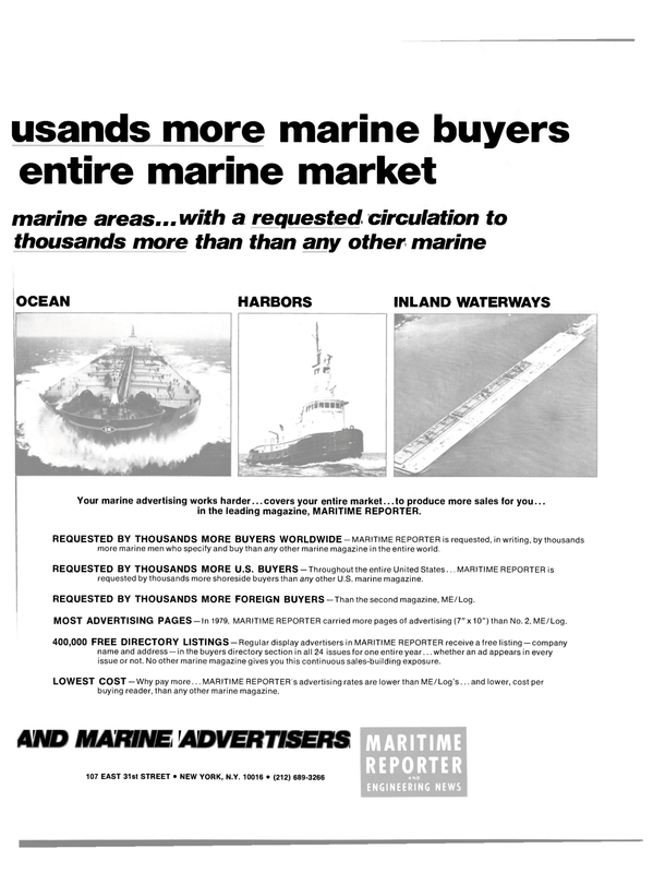 Maritime Reporter Magazine, page 27,  Feb 1980 marine buyers