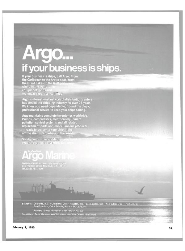 Maritime Reporter Magazine, page 29,  Feb 1980