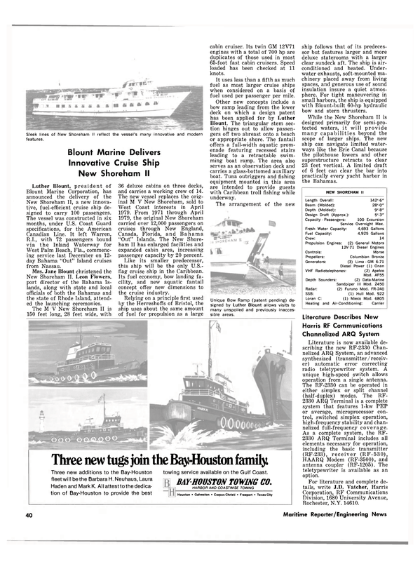Maritime Reporter Magazine, page 34,  Feb 1980 New England