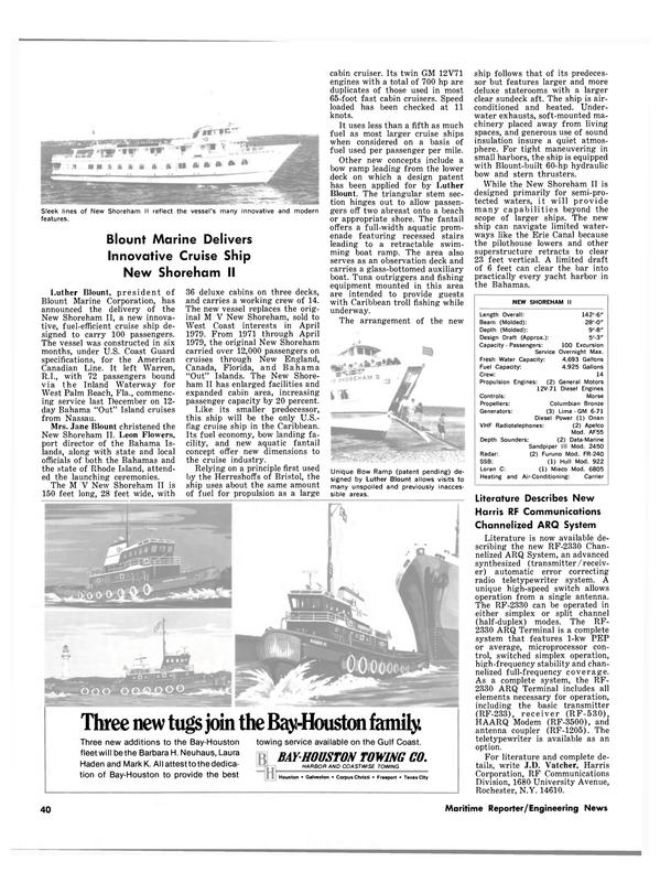 Maritime Reporter Magazine, page 34,  Feb 1980
