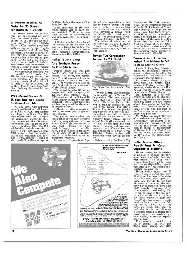 Maritime Reporter Magazine, page 36,  Feb 1980