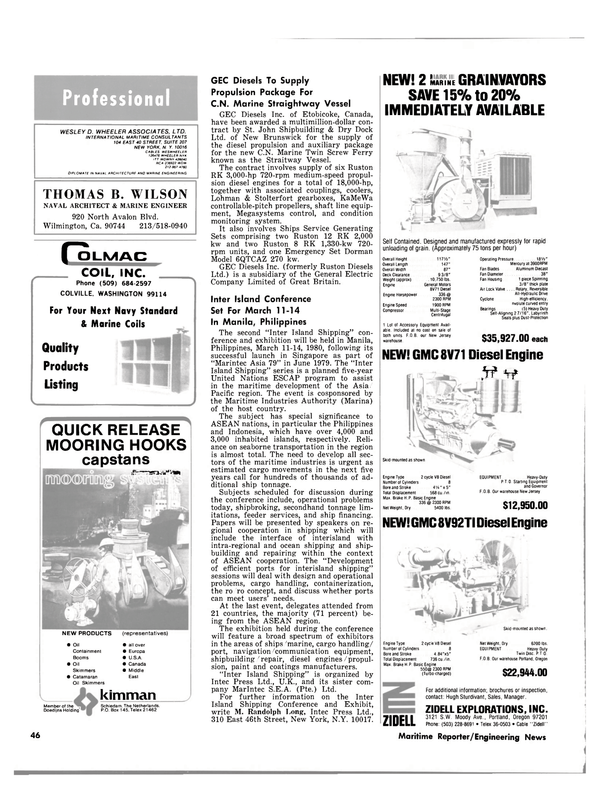 Maritime Reporter Magazine, page 40,  Feb 1980