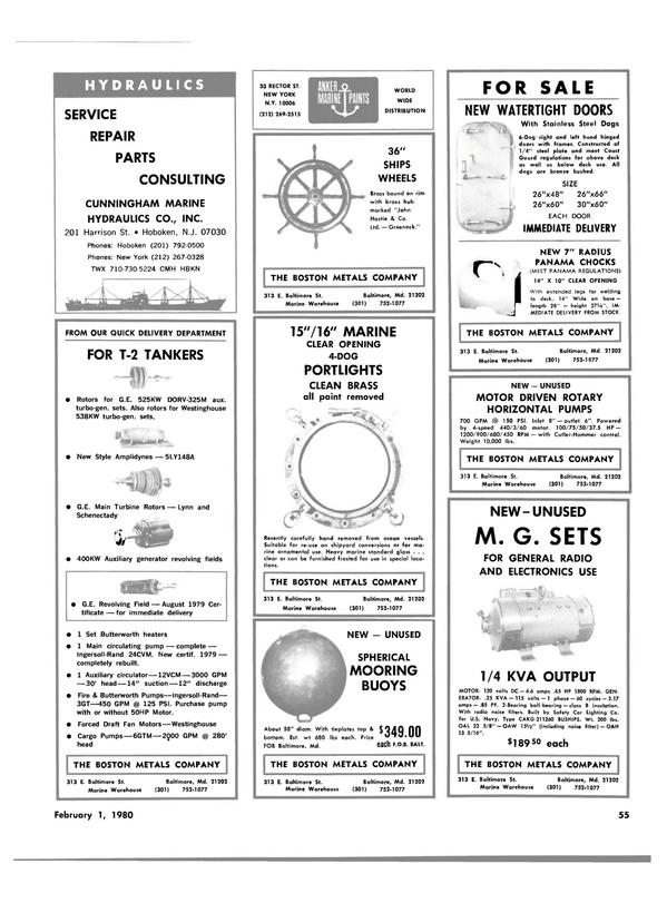 Maritime Reporter Magazine, page 51,  Feb 1980