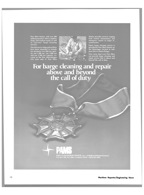Maritime Reporter Magazine, page 8,  Feb 15, 1980