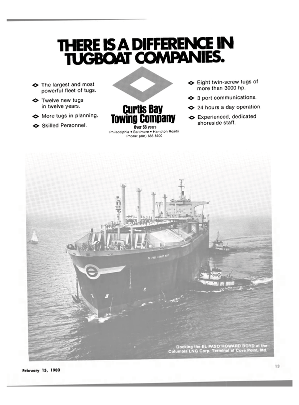 Maritime Reporter Magazine, page 11,  Feb 15, 1980