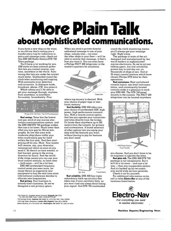 Maritime Reporter Magazine, page 12,  Feb 15, 1980