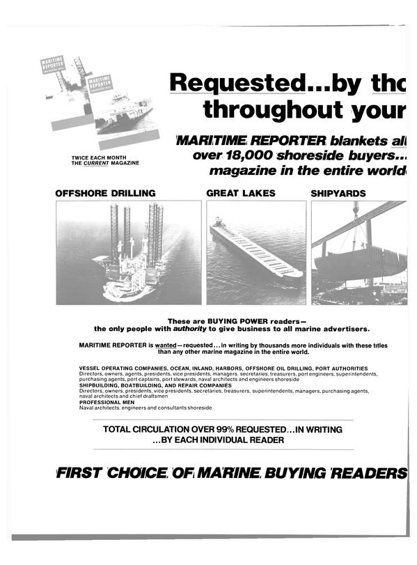 Maritime Reporter Magazine, page 42,  Feb 15, 1980