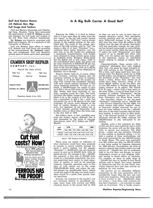 Maritime Reporter Magazine, page 46,  Feb 15, 1980