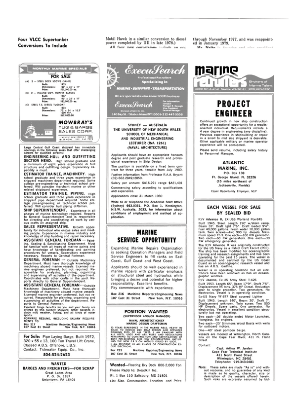 Maritime Reporter Magazine, page 50,  Feb 15, 1980
