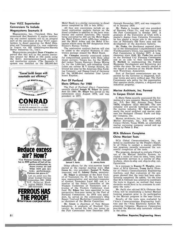 Maritime Reporter Magazine, page 52,  Feb 15, 1980