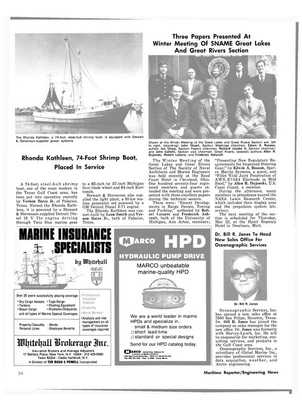 Maritime Reporter Magazine, page 22,  Mar 1980