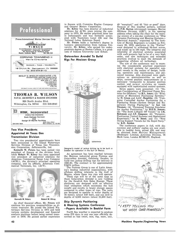 Maritime Reporter Magazine, page 34,  Mar 1980 D. Jensen