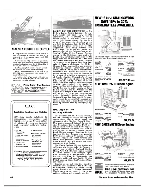 Maritime Reporter Magazine, page 36,  Mar 1980