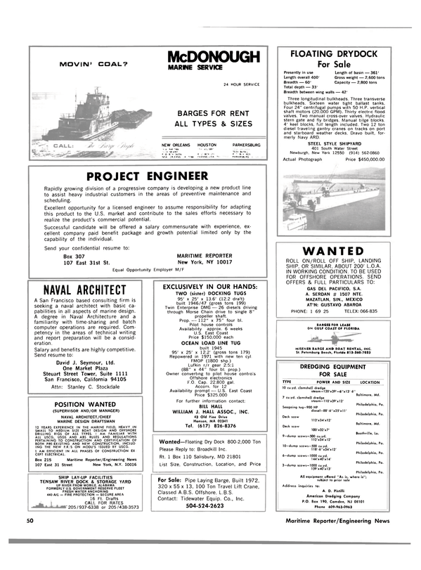 Maritime Reporter Magazine, page 44,  Mar 1980