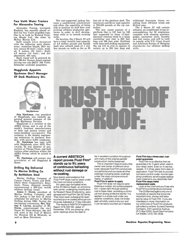 Maritime Reporter Magazine, page 8,  Mar 15, 1980