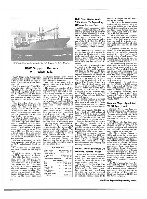 Maritime Reporter Magazine, page 12,  Mar 15, 1980 Aurora