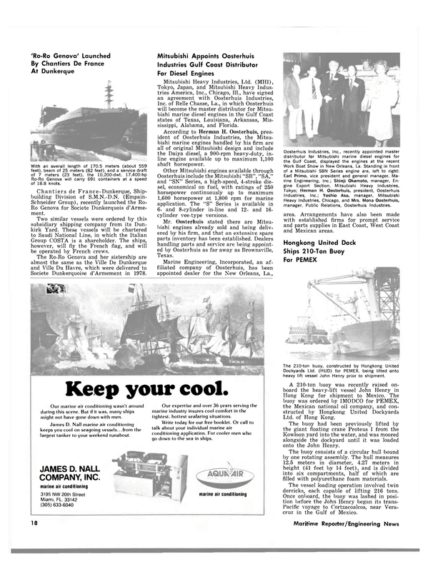 Maritime Reporter Magazine, page 18,  Mar 15, 1980