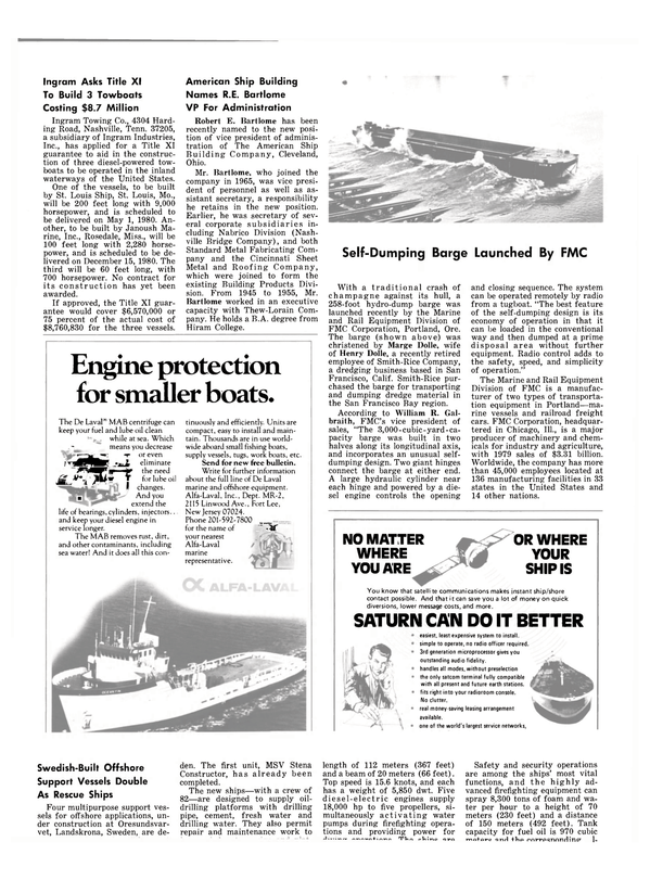Maritime Reporter Magazine, page 22,  Mar 15, 1980 Oregon