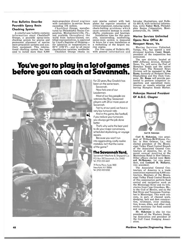 Maritime Reporter Magazine, page 42,  Mar 15, 1980