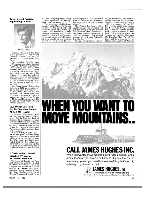 Maritime Reporter Magazine, page 45,  Mar 15, 1980