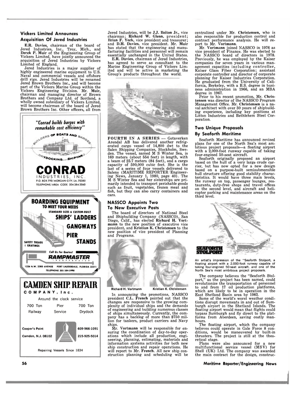 Maritime Reporter Magazine, page 50,  Mar 15, 1980