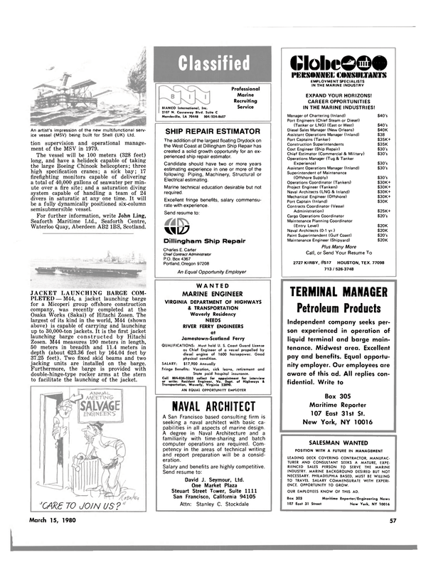 Maritime Reporter Magazine, page 51,  Mar 15, 1980 Midwest