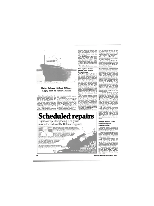 Maritime Reporter Magazine, page 12,  Apr 15, 1980 Connecticut