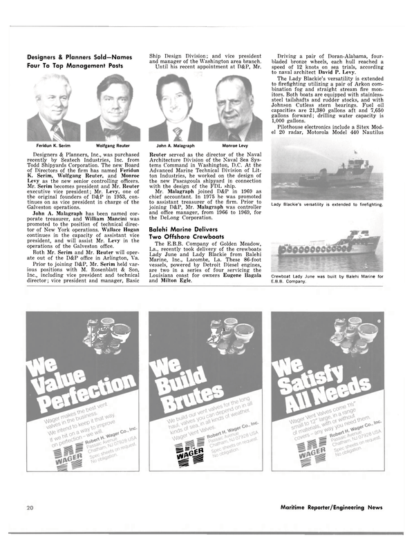 Maritime Reporter Magazine, page 16,  May 1980