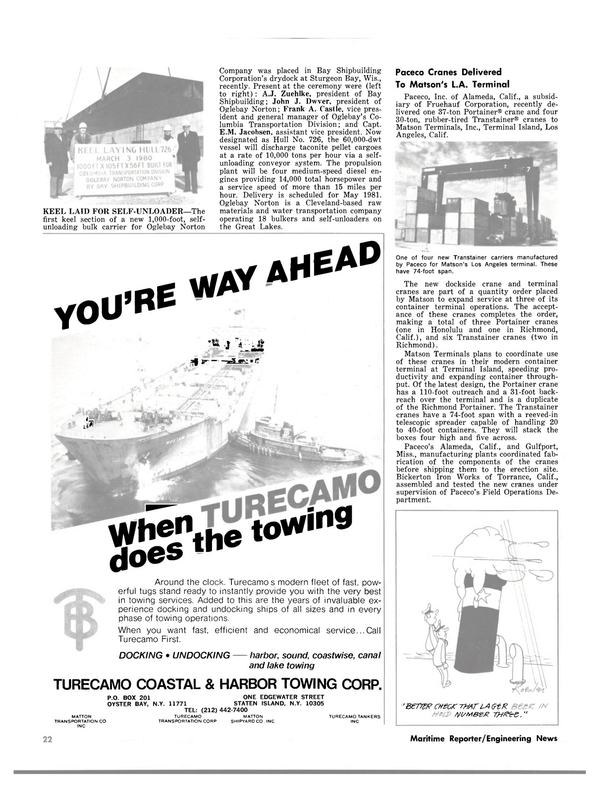 Maritime Reporter Magazine, page 20,  May 1980 A.J. Zuehlke